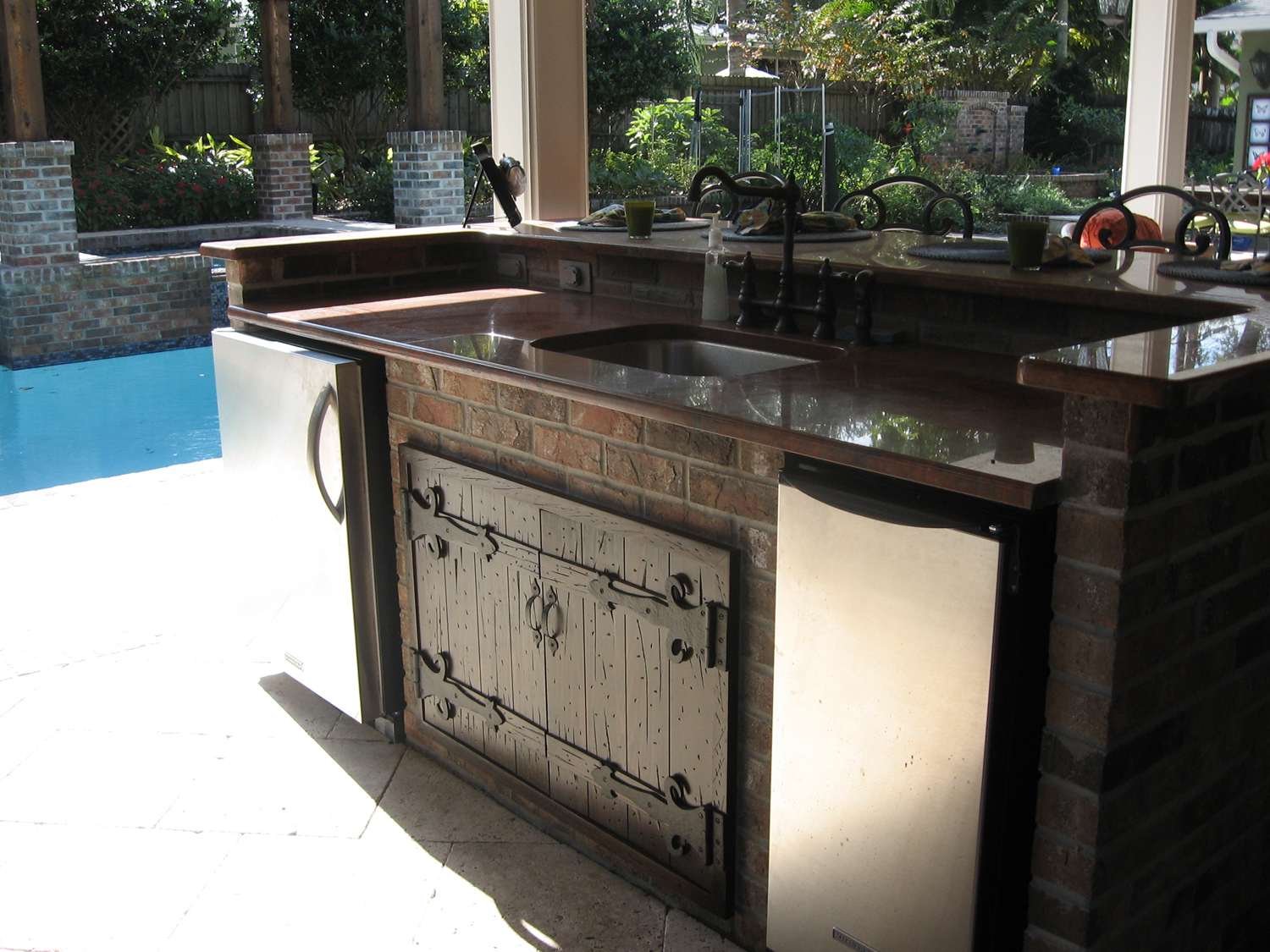 Travertine Stucco Outdoor Kitchen Summer Kitchens