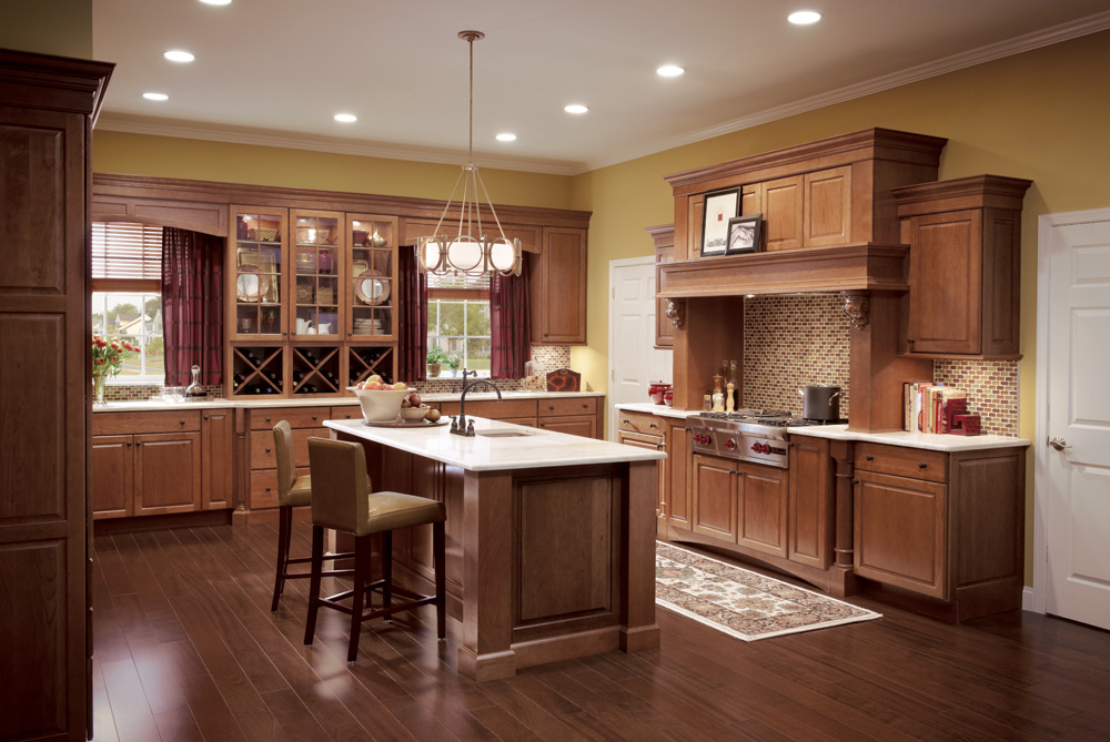 Elegant Kitchen Cabinets Cherry