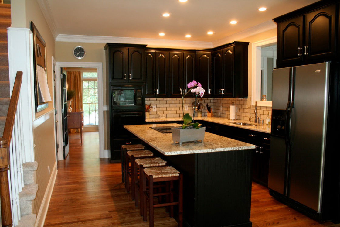 Simple tips for painting kitchen cabinets black my Pictures of painted cabinets