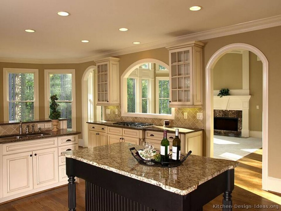 Kitchen colors with white cabinets dog breeds picture for White cabinets
