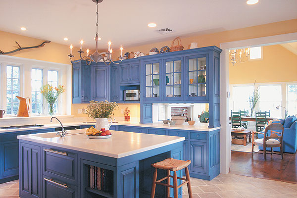 Versatile Value of Blue Kitchen Cabinets