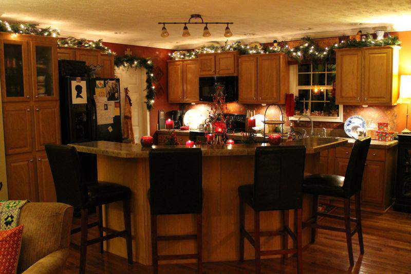 Kitchen Accessories Kitchen Island Christmas Decorating Ideas