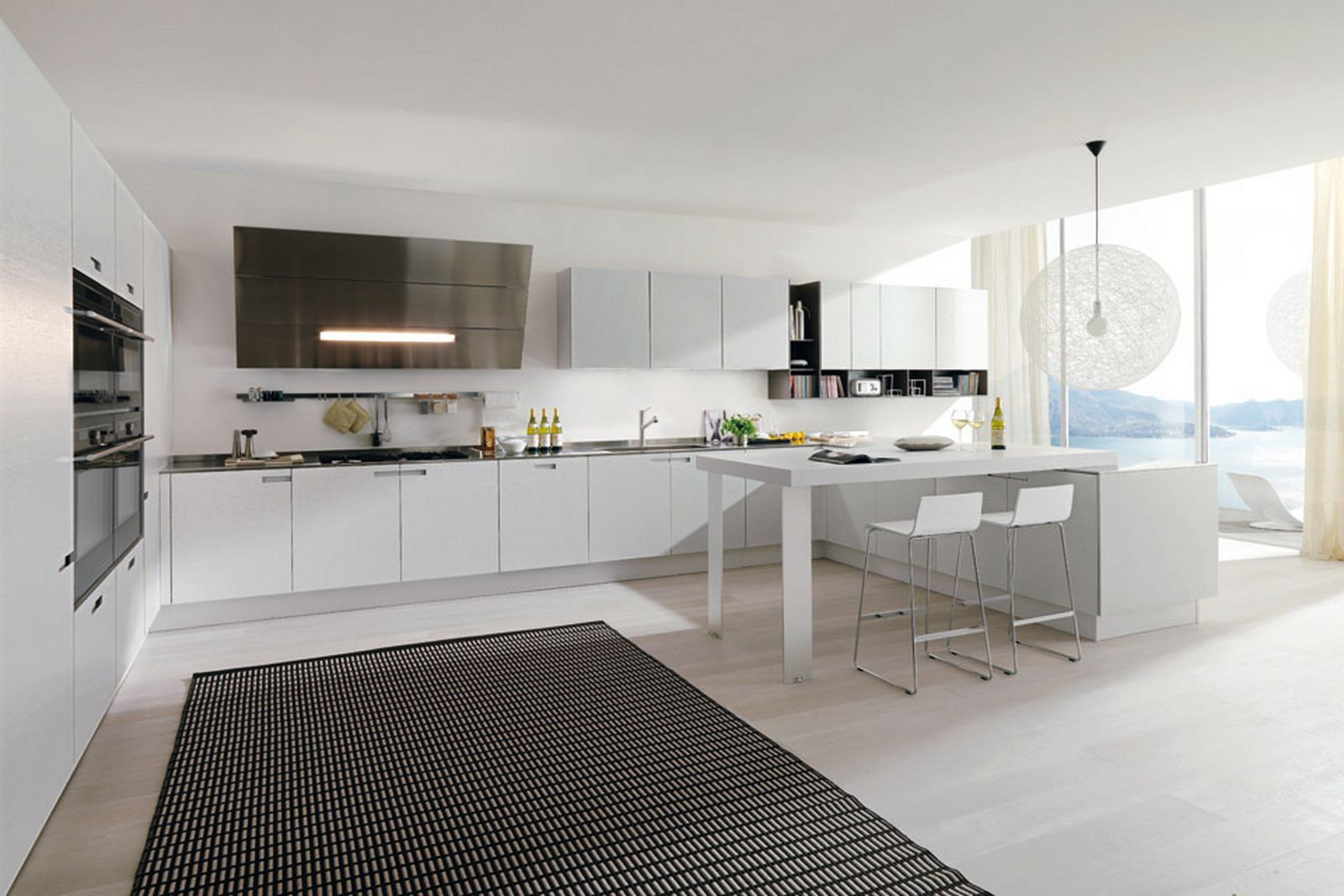 Have the contemporary white kitchen cabinets for your home for White kitchen cabinets ideas