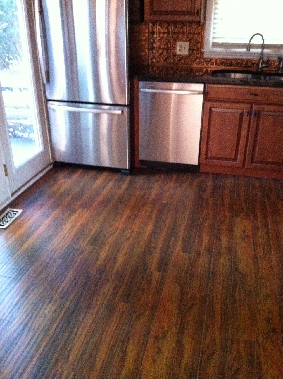 Wooden Laminate Floor Kitchen Oak Cabinets