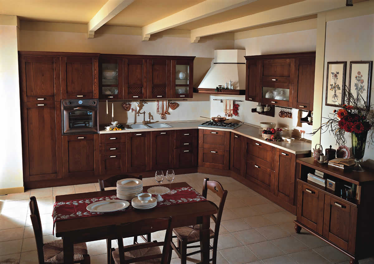 Lovely country style kitchen cabinets new popular style for Kitchen setting pictures