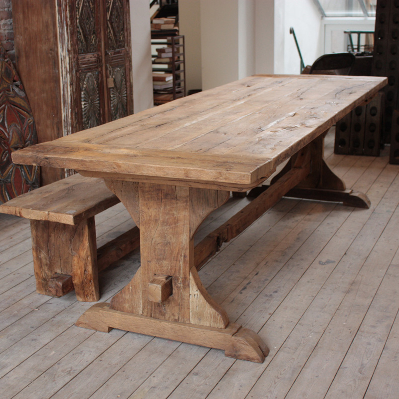 Related Post from Farmhouse Wooden Kitchen Tables As Ageless Rustic ...