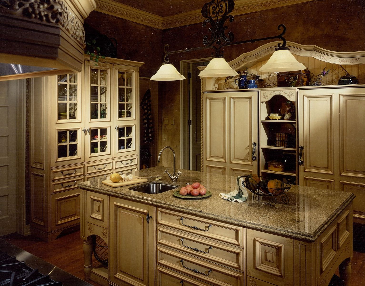 French country kitchen cabinets design ideas Design for cabinet for kitchen