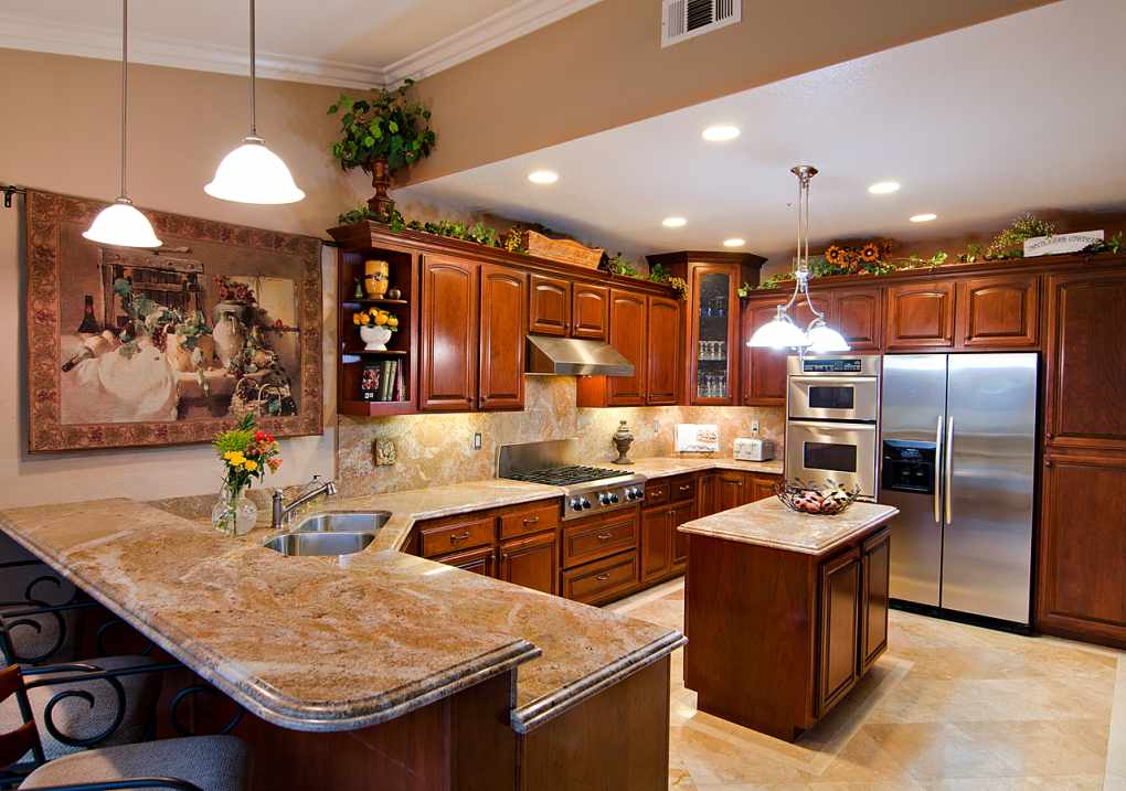 Brilliant Traditional Decorate Long Kitchen Wall