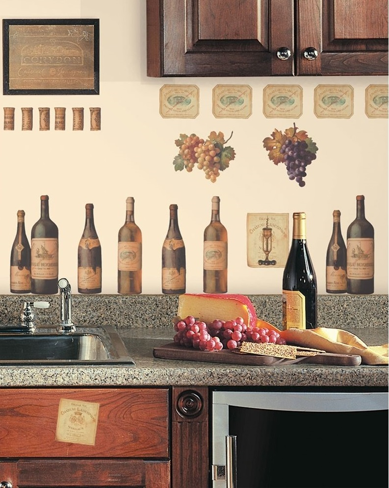 Creative Wine Kitchen Decor for Backsplash Design