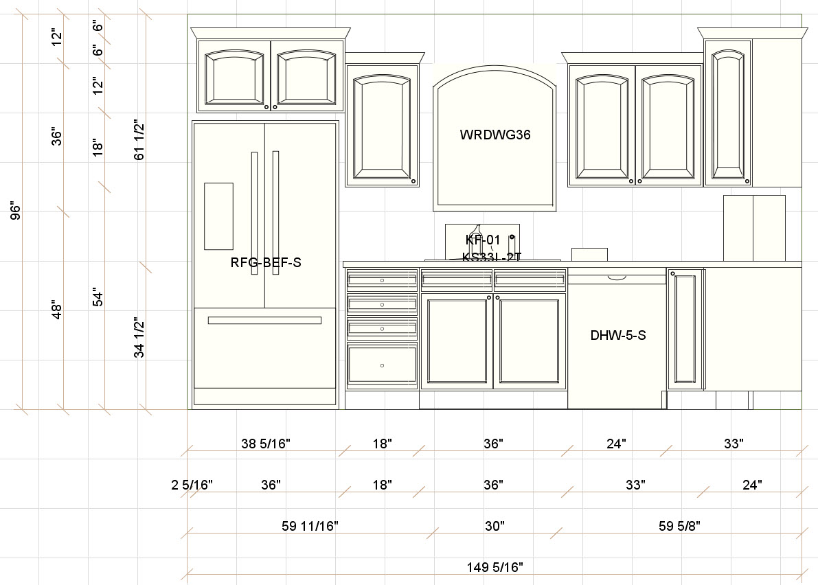 Fantastic Standard Kitchen Cabinet Sizes Design