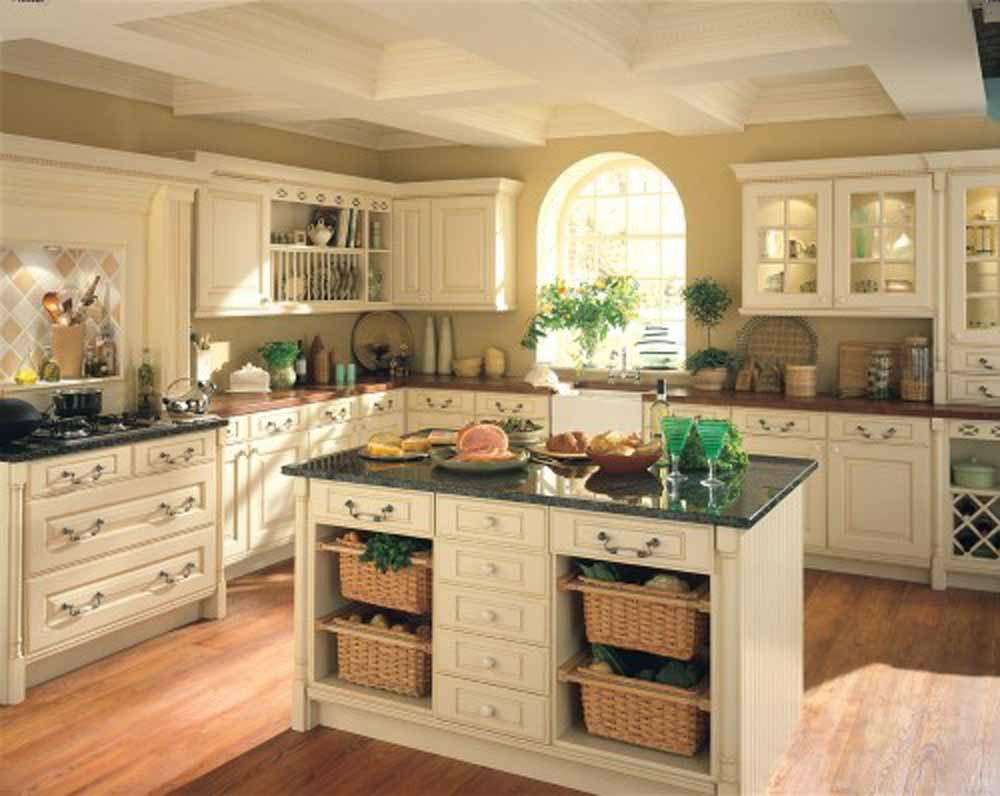 Modern Farmhouse Kitchen Design Ideas with  Pastel Cabinets  plus Small Window in Calm Wall