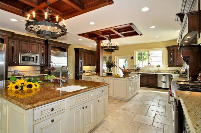Best application of large kitchen designs ideas my for Kitchen designs american style