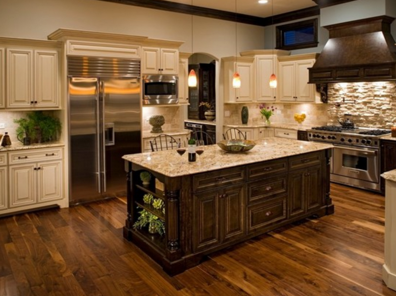 Wooden Tile for Kitchen Floor with Classic Design