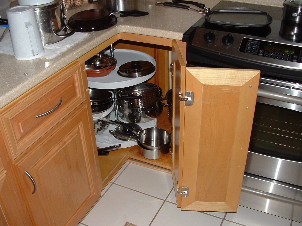Awesome Electric Stove beside Wooden Cabinet plus Kitchen Cabinet Door Hinges and Usual Floortile